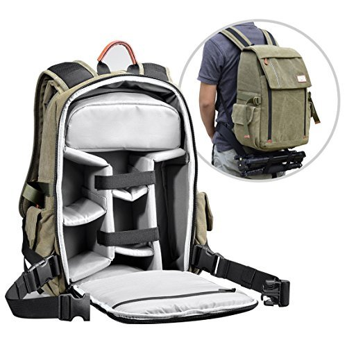 1698ced90bf9 Zecti Camera Backpack Waterproof Canvas Professional Camera Bag for ...