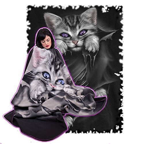 Spiral Direct Alternative Goth Schwarz Bright Eyes Fleece Decke Geschenk