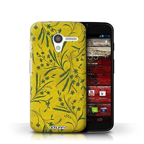 Kobalt® Imprimé Etui / Coque pour Motorola MOTO X / Gris conception / Série Motif floral blé Jaune/Vert