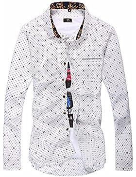 Hombre de elegante camisa de manga larga adolescentes varones coreano San Sau marea camiseta