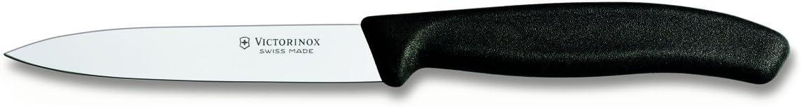 Victorinox 6.7703 Soyma Bıçağı, Unisex, Siyah, 10Cm