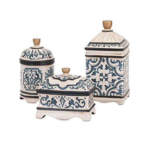 beth-kushnick-peint-la-main-en-cramique-botes-lot-de-3