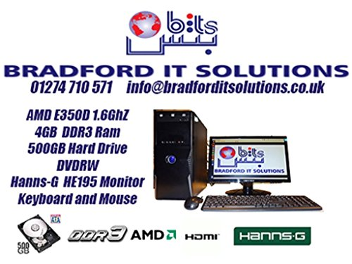 AMD 1.6 Ghz Complete PC System with Hanns.G 18.5 Widescreen Monitor