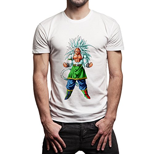 Dragon-Ball-Gogu-Super-Saiyan-God-LVL-5-Dragon-Ball-Super-Layer-0.jpg Herren T-Shirt Weiß