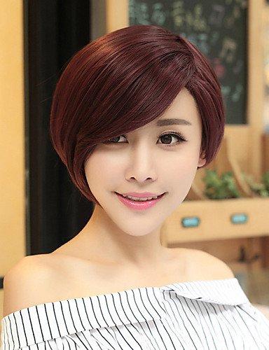 Perruques européens mode cheveux européenne et américaine de la mode fille perruque rouge nécessaire vin de haute qualité
