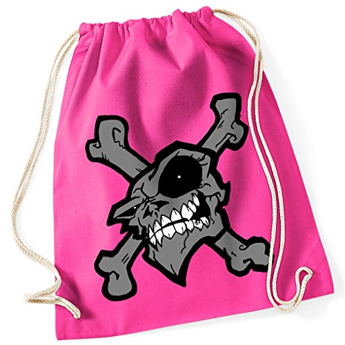 bad-skull-skull-and-crossbones-pirate-skull-evil-100-cotton-gym-bag-with-printed-design-and-single-s