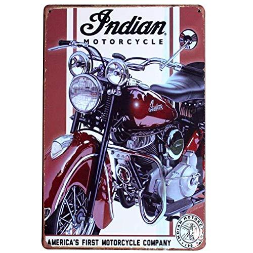 Chytaii.Cartel Metal Vintage Motocicleta Señal Retro