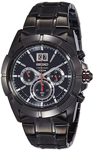 Seiko Lord Chronograph Black Dial Men's Watch - SPC103P1