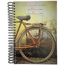 """dicker Tagebuch Kalender 2017 """"Das Leben ist wie Fahrrad fahren, um die Balance zu halten musst du in Bewegung bleibten"""" (Albert Einstein) DIN A4 - 1 Tag = 1 Seite"""