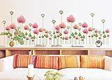 "Wall Sticker, DDLBiz® Adesivi Murales, Carta da Pareti "" fiore rosa"" Decorazione Murali da Parete"