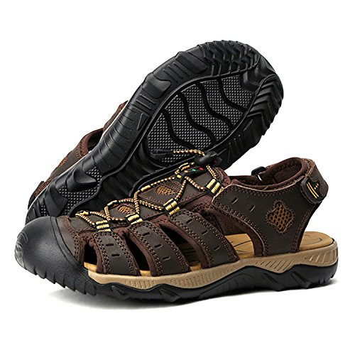 98db4565711f WhiFan Men s Summer Sports Outdoor Walking Sandals Close Toe Strap ...
