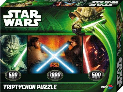 ar Wars Puzzle Jedi vs. Sith Episode 2 & 3, Triptychon, 2000 Teile ()