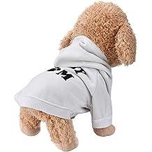 Ropa para mascotas,RETUROM Amo a mi mamá Letra impresa camiseta Ropa para pequeño perro mascota cachorro