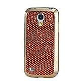 KSHOP Étui Case pour Samsung Galaxy S4 Mini Ultra-Mince Silicone Gel Housse Bling Glitter Coque de protection TPU Case Protection Cover Couvrir Pare-Chocs Anti-rayure Coquille Arrière - Orange