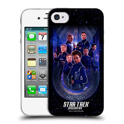 Head Case Designs Offizielle Star Trek Discovery Crew U.S.S Discovery NCC - 1031 Soft Gel Huelle kompatibel mit iPhone 4 / iPhone 4S