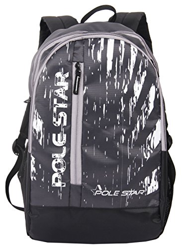 "POLE STAR"" ICON 30 Lt Black Casual/Travel Backpack"