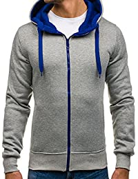 BOLF Kapuzenpullover Sweatshirt Hoodie Kapuze Pullover mit Reißverschluss 1A1 Motiv