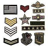 Bella 13pcs Parch Apliques Patches Sticker Parche Termoadhesivo Militar Estilo Insignia Badge...