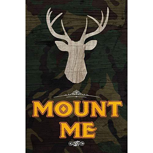 YASMINE HANCOCK Mount Me Deer Buck Antlers Picture Animal Metall Plaque Zinn Logo Poster Wand Kunst Cafe Club Bar Wohnkultur (Mount Antler Deer)