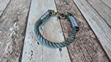 Tau-Halsband Größe 29-31cm Grau Silberschimmer
