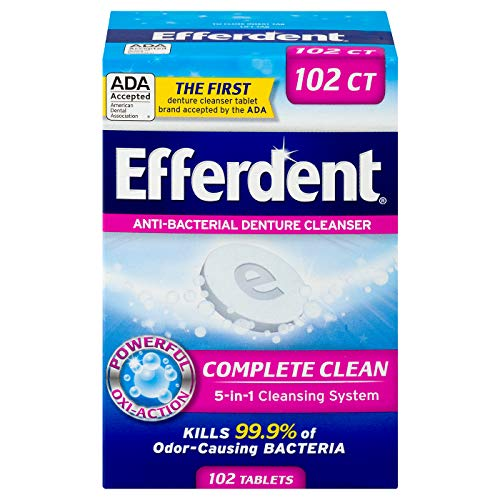 Efferdent Original Anti-Bacterial Denture Cleanser Tablets, 102 Count by Efferdent -