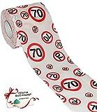 Unbekannt 10 Rollen _ Toilettenpapier -  70. Geburtstag / siebzig Jahre - Happy Birthday  - 28 m - Verkehrsschild - WC Klopapier Klopapier - Senior / Bestager - lusti..
