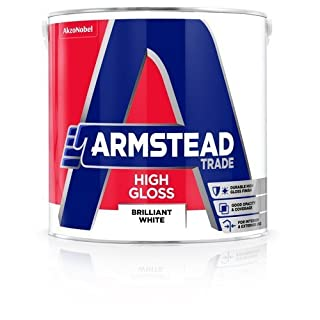 Armstead Trade High Gloss Paint Brilliant White 5 Litres by Armstead Trade