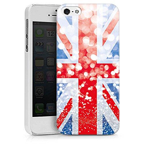 Apple iPhone X Silikon Hülle Case Schutzhülle Grossbritannien Großbritannien Glitzer Hard Case weiß
