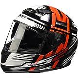 LS2 103202432L Casque Noir/Orange Taille L