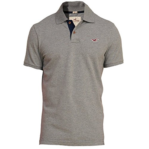 hollister-homme-stretch-slim-fit-pique-polo-top-shirt-courte-taille-medium-gris-626785452