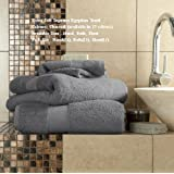Egyptian Cotton Bath Sheet 700gsm Luxury Extra Large Thick Bathroom Towels Super Soft Combed Highly Absorbent High Quality Towels 90 x 140 Cm , Charcoal