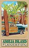 Northwest Art Mall Amelia Inseln Minnesota Beach Zugang Print von Künstler Evelyn Jenkins Drew, 27,9x 43,2cm