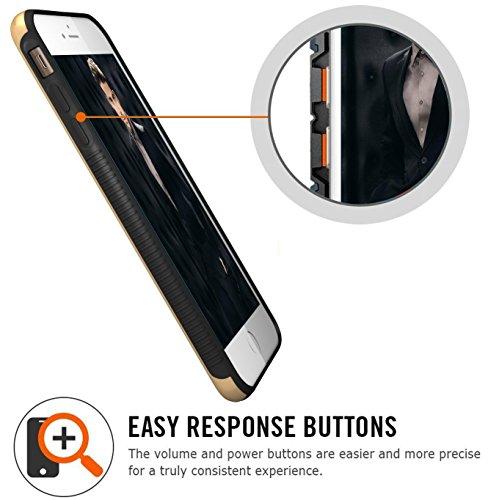 iPhone 6S Plus Hülle, Pasonomi® iPhone 6 Plus Ultra dünne Defender Silikon Bumper Case Handy Tasche Etui Schutzhülle für Apple iPhone 6/6S Plus (5,5 Zoll) (Schwarz / Silber) Gold