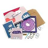 Taumur Set für zweifach verstellbare Leine für große Hunde - lila/rosa/hellblau/weiß
