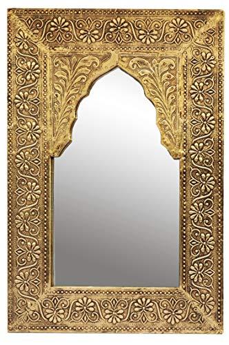 Oriente Espejo Espejo Pared Malik 42 cm Altura Oro