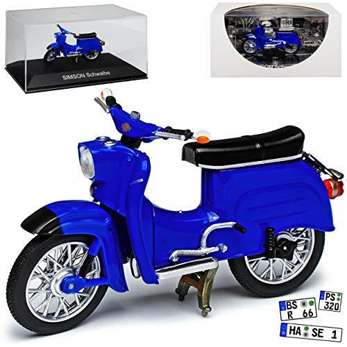Simson Schwalbe KR51 Blau 1964-1986 DDR 1/24 Ixo Modell Auto