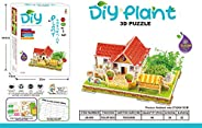 Bestini DIY Sweet Home Building Model 3D Jigsaw Puzzle with Real Plant Eductaion Toy,