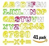 Fondant Buchstaben Ausstecher groß Ausstechform ilauke Modellierwerkzeug farbig Alphabet Zahlen