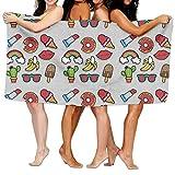 Strandtücher Handtücher Cactus Banana Rainbow Kiss Donut Bath Towel Adult Microfiber Towel 31 X 51 Inch Bath Sheet