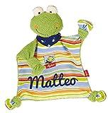 Sigikid 48934 Schmusetuch Fortis Frog mit Namen bestickt