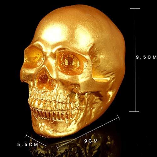 ation, Eröffnung-Goldkopf Sammlerstück Skelett Dekoration Figur Modell,Gold ()