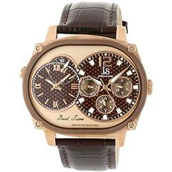 Joshua & Sons Caballero JS729BR Dual Time Multi-Function Reloj
