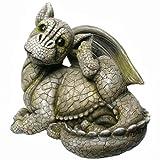 Drachenkind kratzt sich Drache Gargoyle Figur
