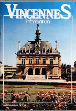 VINCENNES INFORMATION [No 425] du 01/05/1989 - SPORTS - GRAND GALA DE BOXE FRANCAISE.