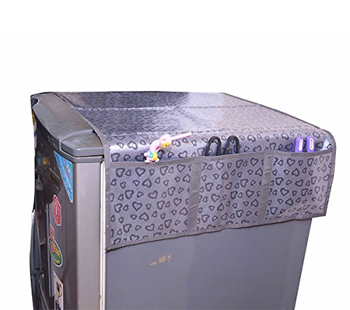 STARVIN Premium Velvet Printed Refrigerator Top Cover with 6 Pockets|| Anti Slip Back | M-04  available at amazon for Rs.298