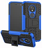 Yiakeng Moto G6 Play Case, Double layer Shockproof Slim