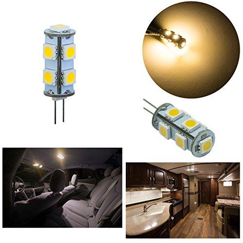 PA 2 x G4 9 SMD 5050 Ampoule LED DC 12 V 3000 K Blanc chaud G4 Bateau Marine/maison d'éclairage ampoule