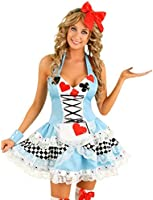 Sexy Womens Adult Alice in Wonderland Fancy Dress Ladies Costume Plus size available