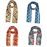 Dream Fashion Combo Pack of 4 Scarf, Stole For women