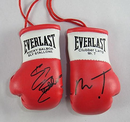 Everlast Paire de gants de boxe miniatures autographiés Clubber Lang V Rocky Balboa